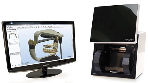 PAO/FAO Écran ordinateur pour création laboratoire lopez prothésiste dentaire à Limoux