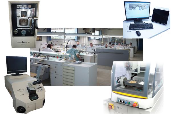 Quelques appareils que le laboratoire Lopez à Limoux se sert pour réaliser ces prothèses dentaires.